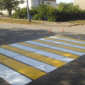 Обновление пешеходной разметки