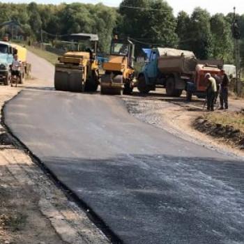 Капитальный ремонт асфальтового покрытия улицы Центральная (д.Соловьевка)